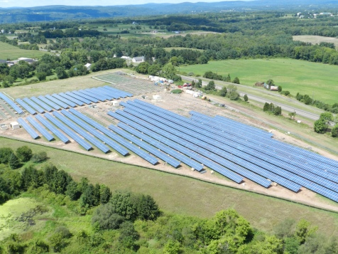 Utility-scale solar site in New Jersey
