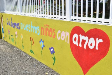 Wonderful wall art at the Hogar Albergue de Niños Jesus de Nazaret