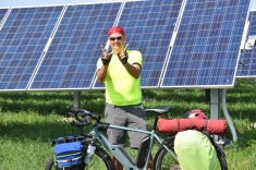 Jim at Alliant Rock River Solar Plant